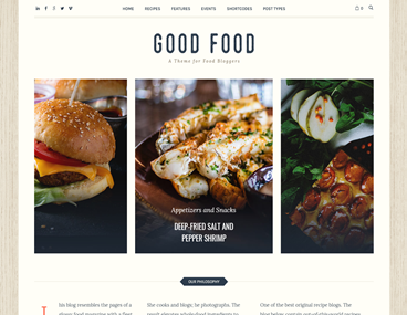 Food Blogging Theme